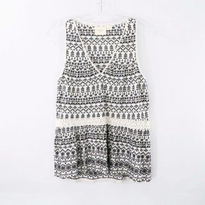 Anthropologie Maeve Embroidered Sleeveless Top